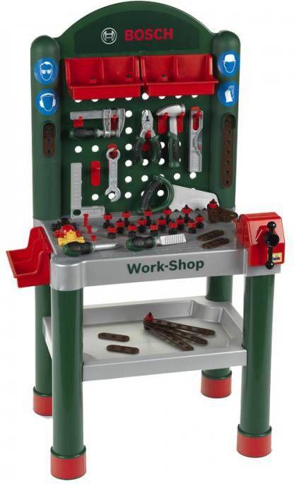 Klein Bosch Speelgoed Werkbank Work Shop 75 Delig Stofzuigerswebshop Nl